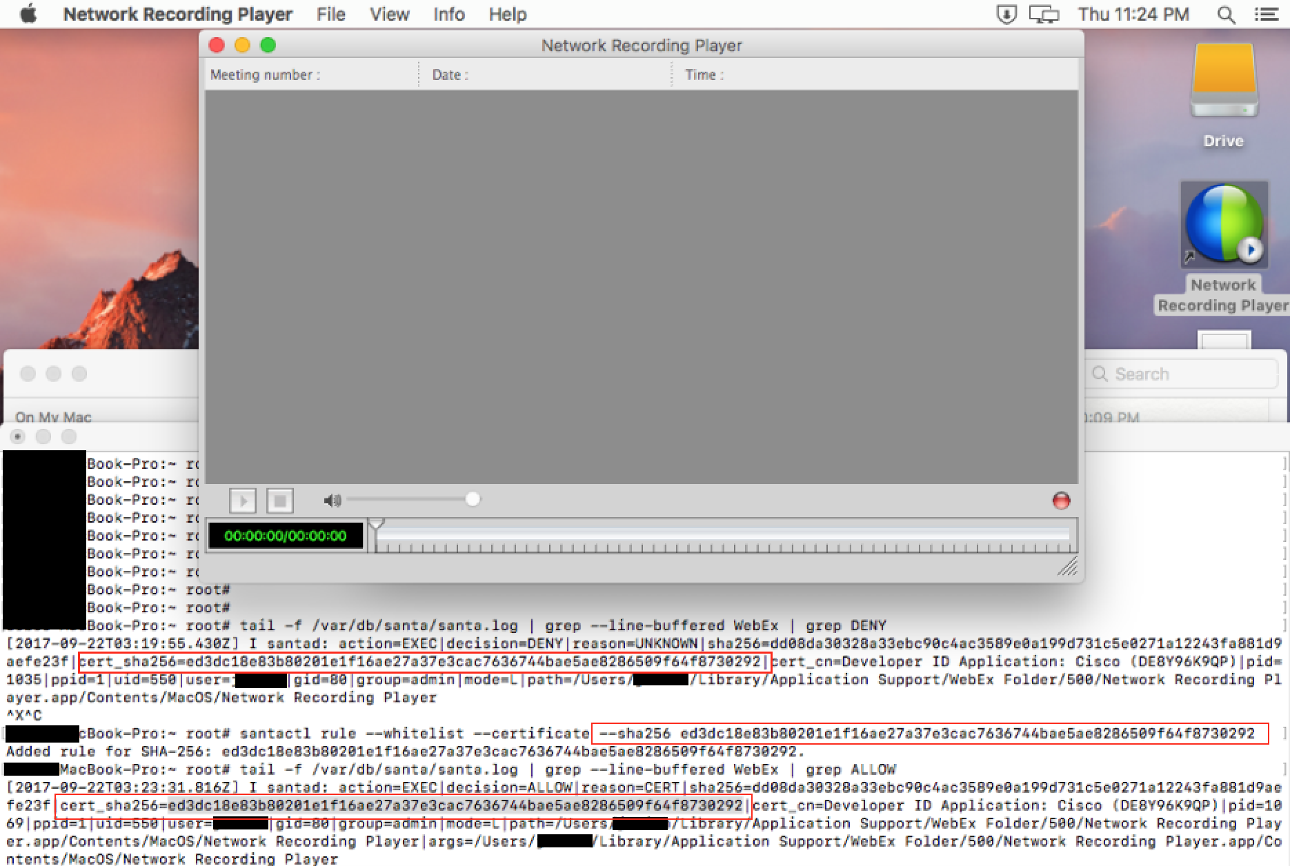 MacOS Application Whitelisting